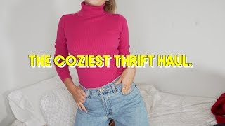 a big and cozy af thrift haul (try-on of course)