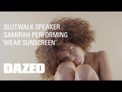 Samirah Raheem performs 'Wear Sunscreen'