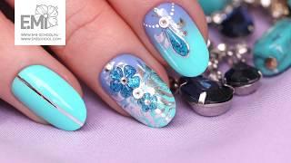 Мастер-класс стеклянные цветы. 3D-дизайн на ногтях и омбре гель-лаком
