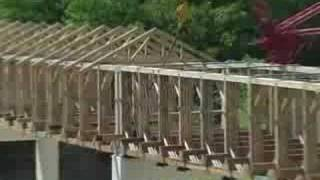 Ashtabula County Ohio covered bridge construction progress J