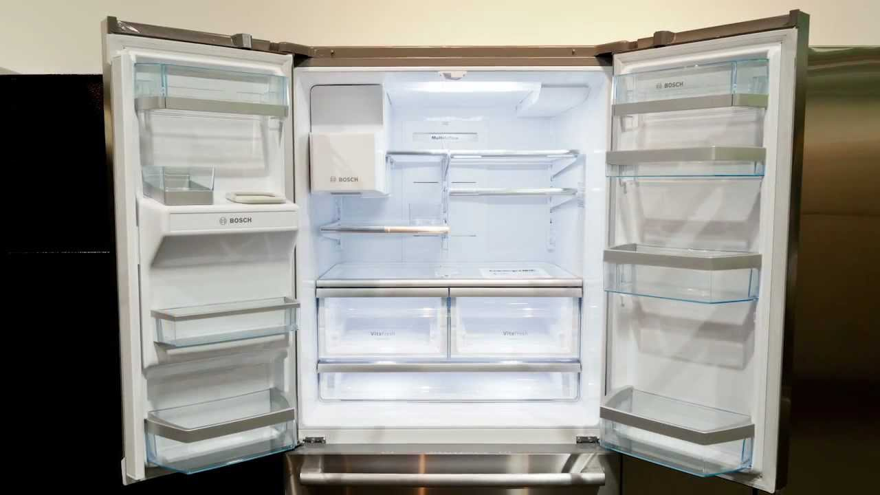 Bosch French Door Kühlschrank : Bosch french door refrigerator youtube