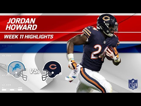 Jordan Howard's Big Game w/ 125 Yards & 1 TD vs. Detroit! | Lions vs. Bears | Wk 11 Player HLs