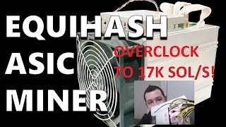 Antminer Z9 Review - Equihash ASIC Miner = 24 1080 TI Mining @ 342