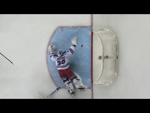 Henrik Lundqvist makes incredible desperation save with blocker