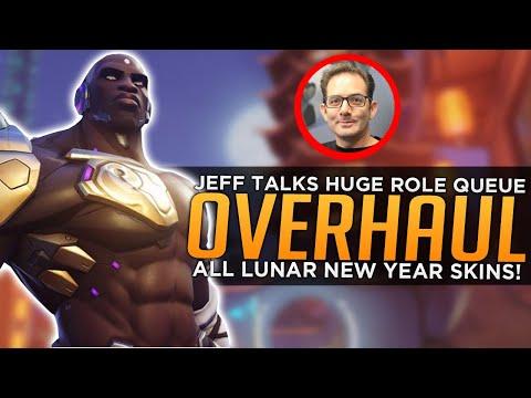 Overwatch: All Lunar New Year SKINS! - Jeff Talks MASSIVE Role Queue Overhaul
