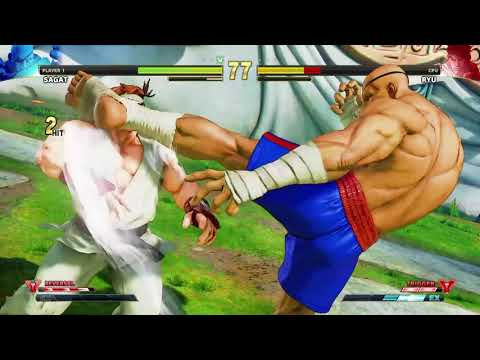 STREET FIGHTER V Sagat vs Ryu