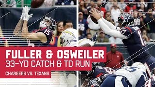 Will Fuller's Huge Catch Sets Up Brock Osweiler's Rushing TD! | Chargers vs. Texans | NFL