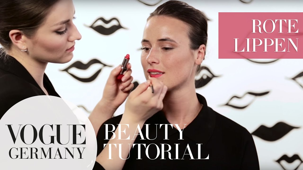 Perfekte rote Lippen schminken – red juicy lips make-up how-to | VOGUE Beauty Tutorial