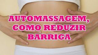 Auto massagem, como perder barriga com cinta térmica