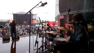 Pearl Artist Matan Shmuely Drum Cam - Ocean Land @ Tuska, Helsinki Finland 29.6.2014