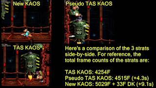 [DKC3] Pseudo TAS KAOS Demonstration + Explanation