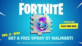 Fortnite Walmart Spray Code Giveaway!