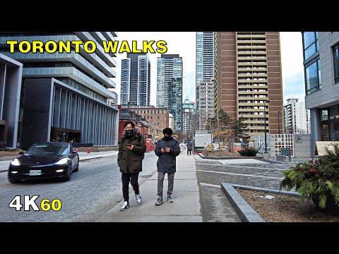 Downtown Toronto Charles Street Walk on January 10, 2021