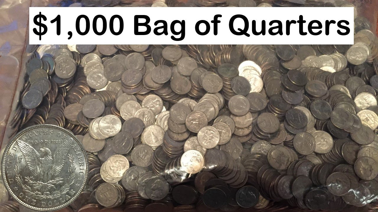 1000 Bag Of Quarters Coin Roll Hunting For Silver