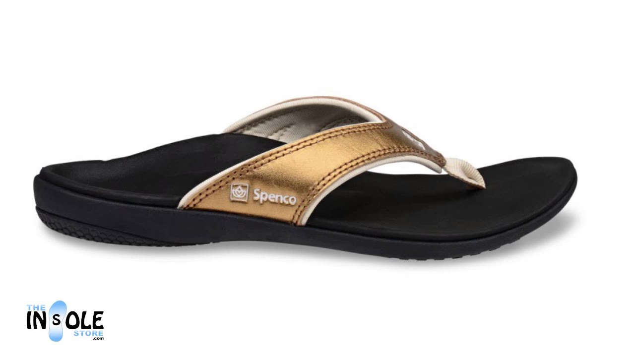 Spenco Yumi Metallic Bronze Sandals for Women @TheInsoleStore.com