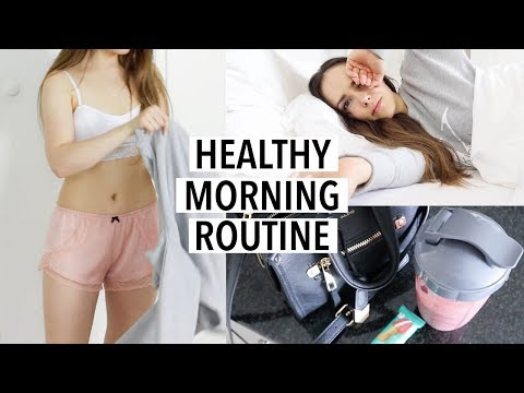 HEALTHY (realistic) MORNING ROUTINE 2018 | breakfast, workout, skincare