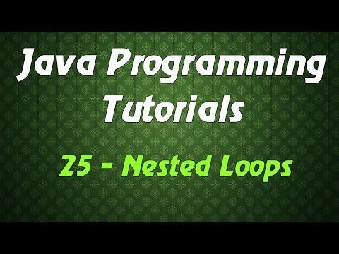 Java Programming Tutorials - 25 - Nested Loops