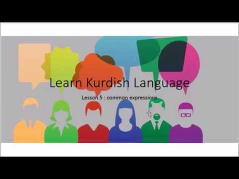 Learn Kurdish Language lesson 5 :common expressions