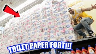 extreme walmart toilet paper fort in cancn mexico   the aqua family