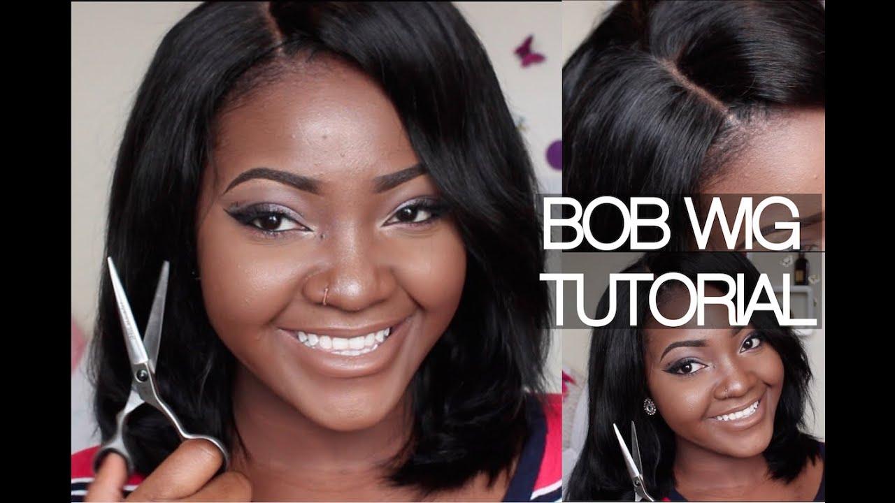 Bob Wig How To Make Cut Style Glue Gun Method Youtube