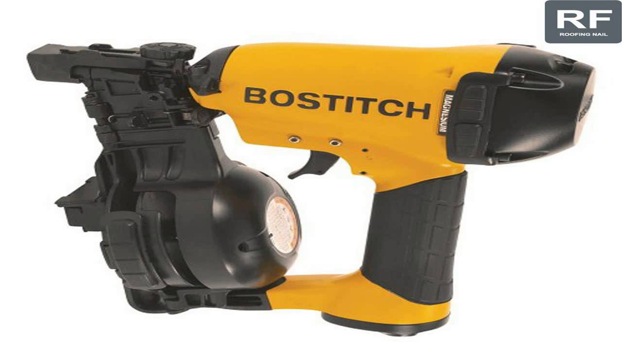 Wonderful BOSTITCH RN46 1 34 Inch To 1 34 Inch Coil Roofing Nailer   YouTube