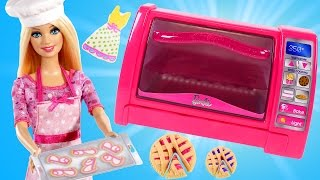 Barbie Dollicious Pastry Chef Play Doh Toy Oven Baking With Barbie & Cookie Monster