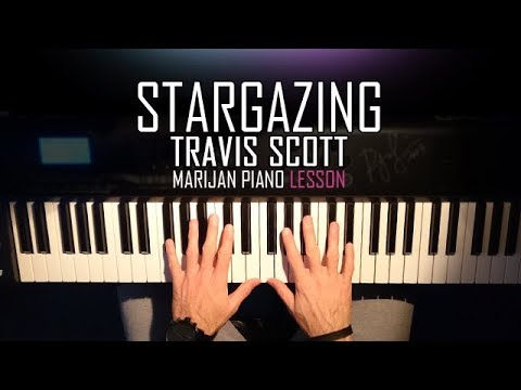 How To Play: Travis Scott - STARGAZING | Piano Tutorial Lesson + Sheets