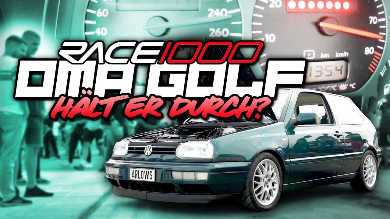 OMA GOLF auf dem RACE1000! - Hält er durch?   Philipp Kaess  