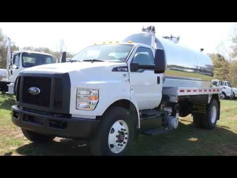 2018 Ford F750 with a 2500 gallon aluminum vacuum tanker