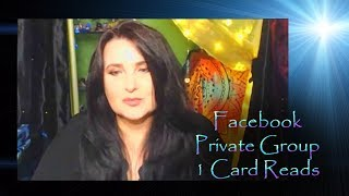 Facebook Private Group Livestream - 1 Card Reads