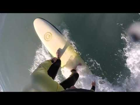 Surfing in Big Bay, Cape Town.  South Arica