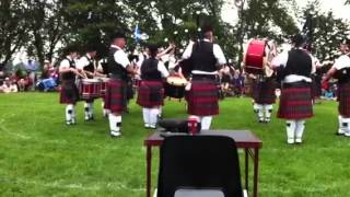 Chatham Kent police pipe band 2013 Highland games