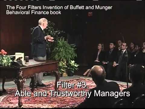 BUFFETT ON VALUE INVESTING & 4 FILTERS INNOVATION