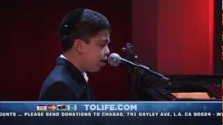 """My Yiddishe Mama"" by 11-year-old Piano Prodigy, Ethan Bortnick on the Chabad Telethon"