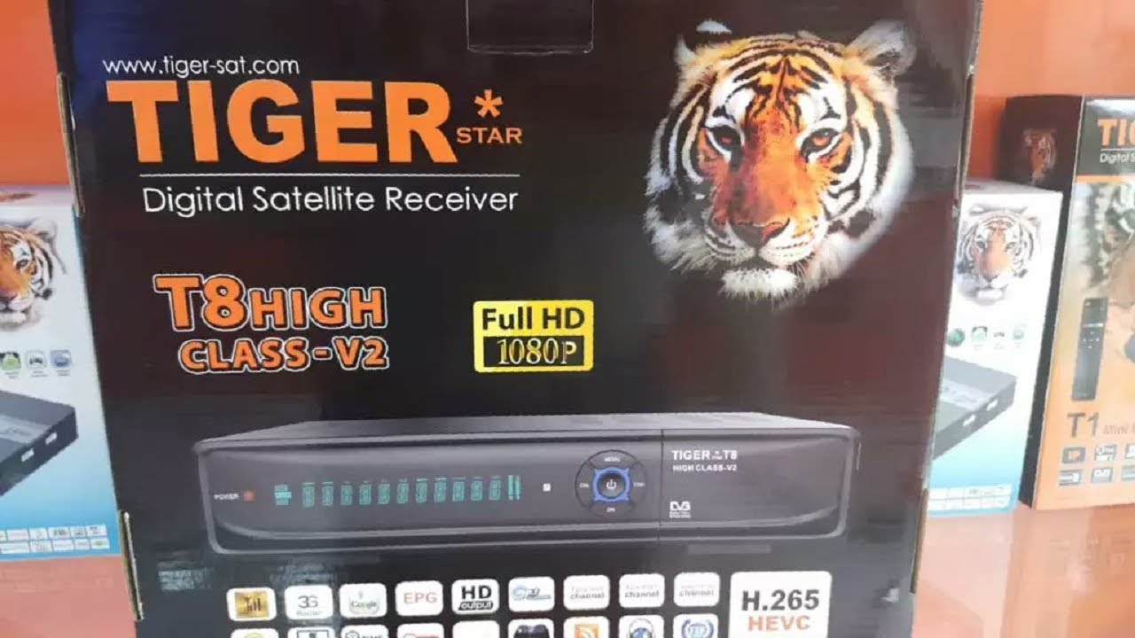 HOW TO TIGER T8 HIGH CLASS V2 DISH RECEIVER BRAND NEW AVAILABLE 2019