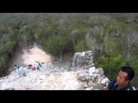 *Incidents of Travel in Yucatan gopro Climbing  The Nohoc Mul pyramid, Coba, Mexico -
