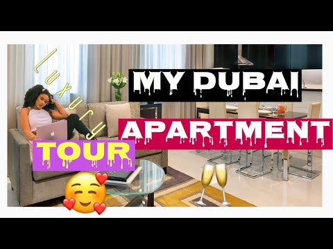 INSIDE MY $2500 DUBAI  LUXURY APARTMENT TOUR. (DUBAI LIVING) 😍
