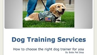 Bobs Pet Stop - In-home Dog Training 2015