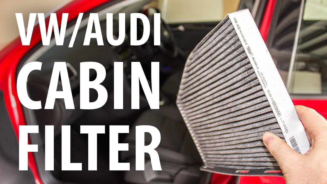 how to change cabin air filter vw audi golf a3 passat. Black Bedroom Furniture Sets. Home Design Ideas