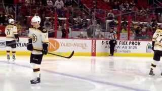 Bruins @ Hurricanes 1/4/15 Quick TV time out (Section 106, PNC Arena)