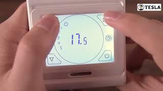 ТЕСЛА   Обзор программмируемого терморегулятора с сенсорным экраном РТС 3