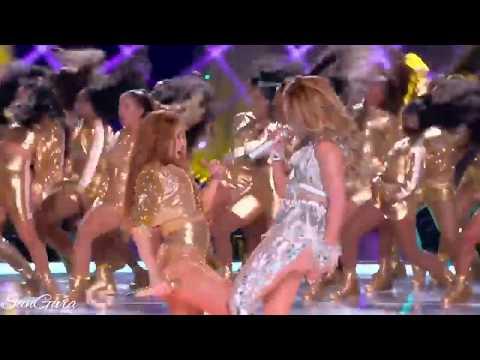 Shakira & Jlo - waka waka/CHAMPETA Dance (Live at Pepsi Super Bowl Halftime Show) from YouTube · Duration:  1 minutes 37 seconds