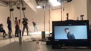 Съемки музыкального клипа на циклораме