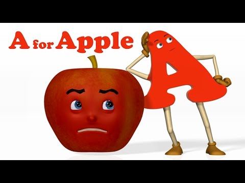 Thumbnail: A for Apple | Alphabet ABC Songs | Phonics Song - 3D ABC Songs & Rhymes for Children