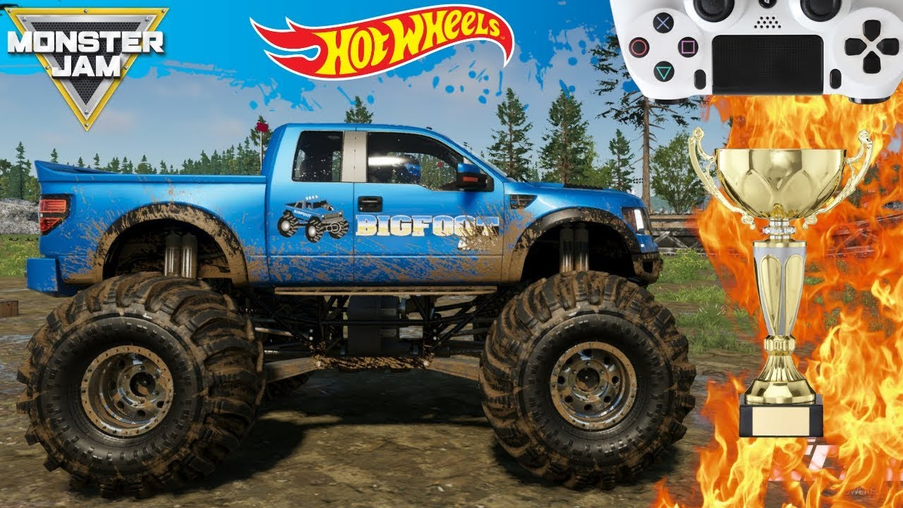 Monster Jam Video Game Freestyle Championship 2019 With Hot Wheels Monster Trucks Youtube