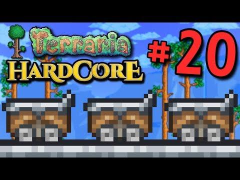 Terraria HC #3! - Part 20 (ROLLER COASTER CAVE!)