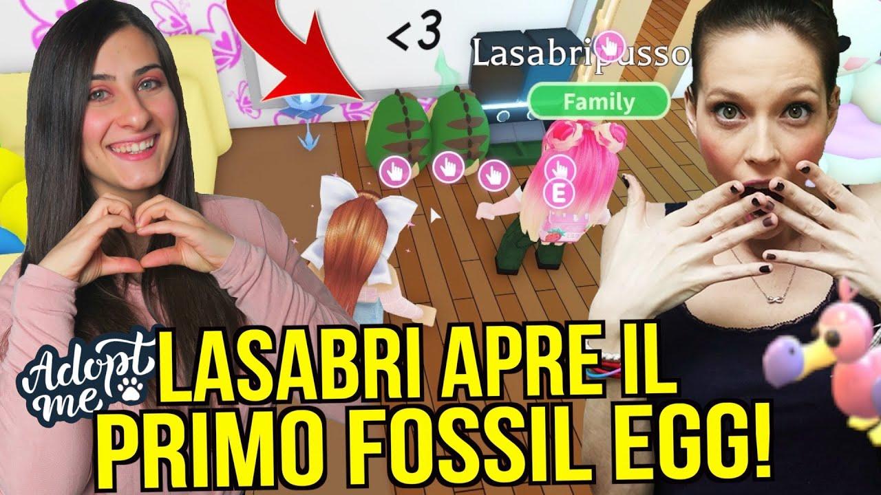 LaSabri APRE il suo PRIMO FOSSIL EGG 🦖 @LaSabriGames Roblox ADOPT ME ITA By FrancyDreams