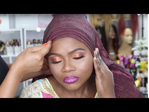 CLIENT GELE AND MAKEUP TRANSFORMATION /NIGERIAN WEDDINGS 3