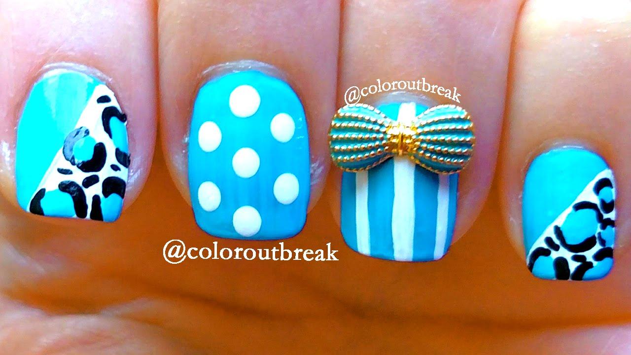✿Dotting Tool Easy Nail Art- Dots, Lines, Leopard Nails, 3 Nail Art ...