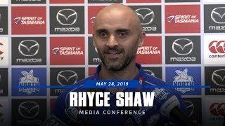 Rhyce Shaw media conference (May 28, 2019)